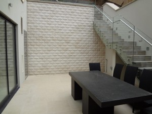 Exterior Tiled Wall