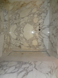 Marble Cladding Wet Room